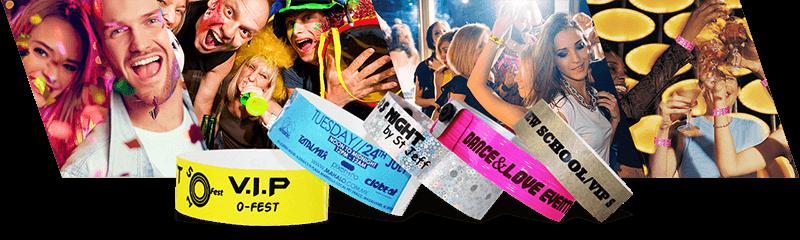 Pulseras para fiestas y eventos pequeños