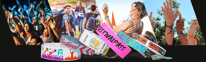 Pulseras para festivales y conciertos