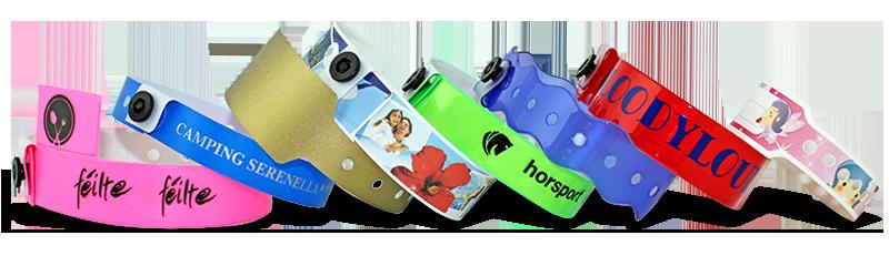 d5f3733c6878 Pulseras de vinilo y plástico impresas sencillas o personalizadas ...