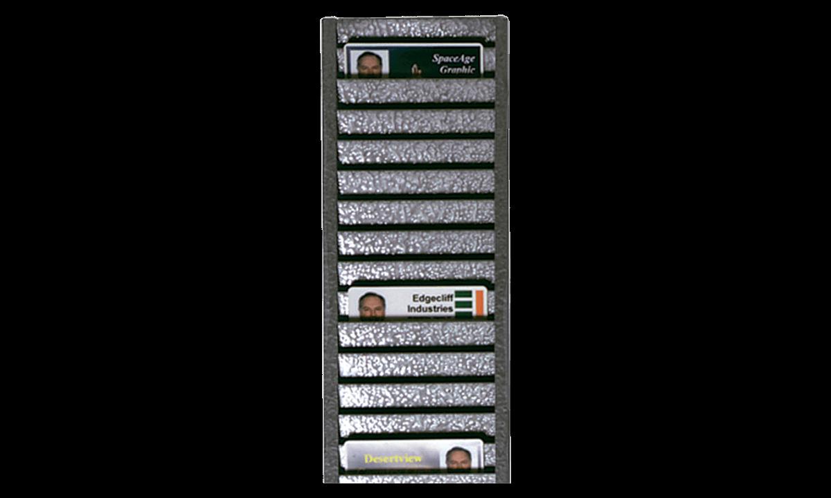Tarjetero de pared metálico (para 40 tarjetas horizontalmente)