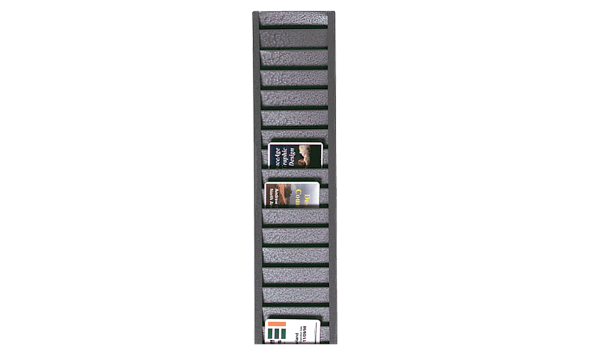 Tarjetero de pared metálico (para 40 tarjetas verticalmente)