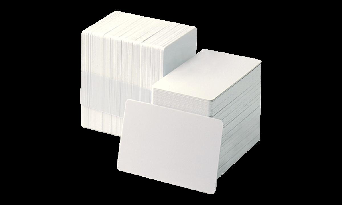 Tarjetas de PVC virgenes con reverso adhesivo - grosor: 0,25 mm