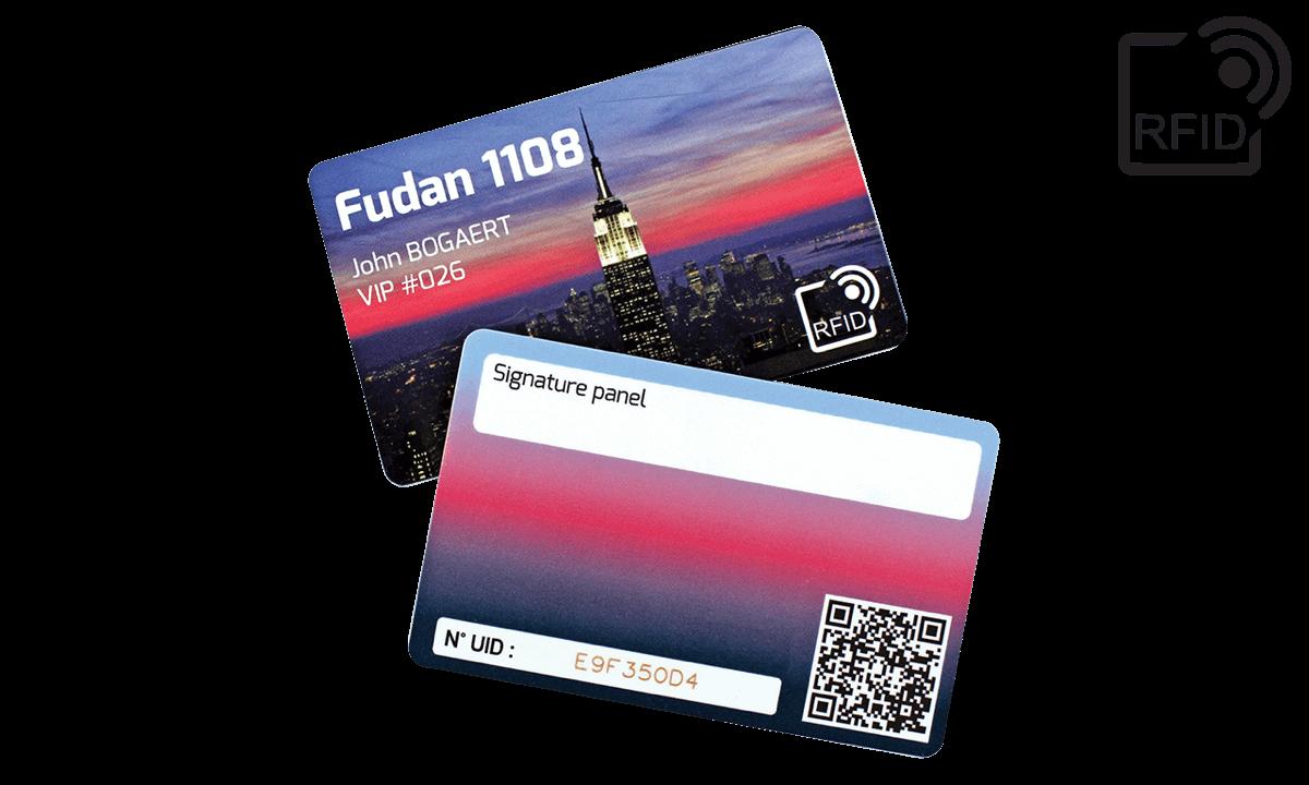 Tarjetas RFID 86 x 54 mm personalizadas - Fudan 1108