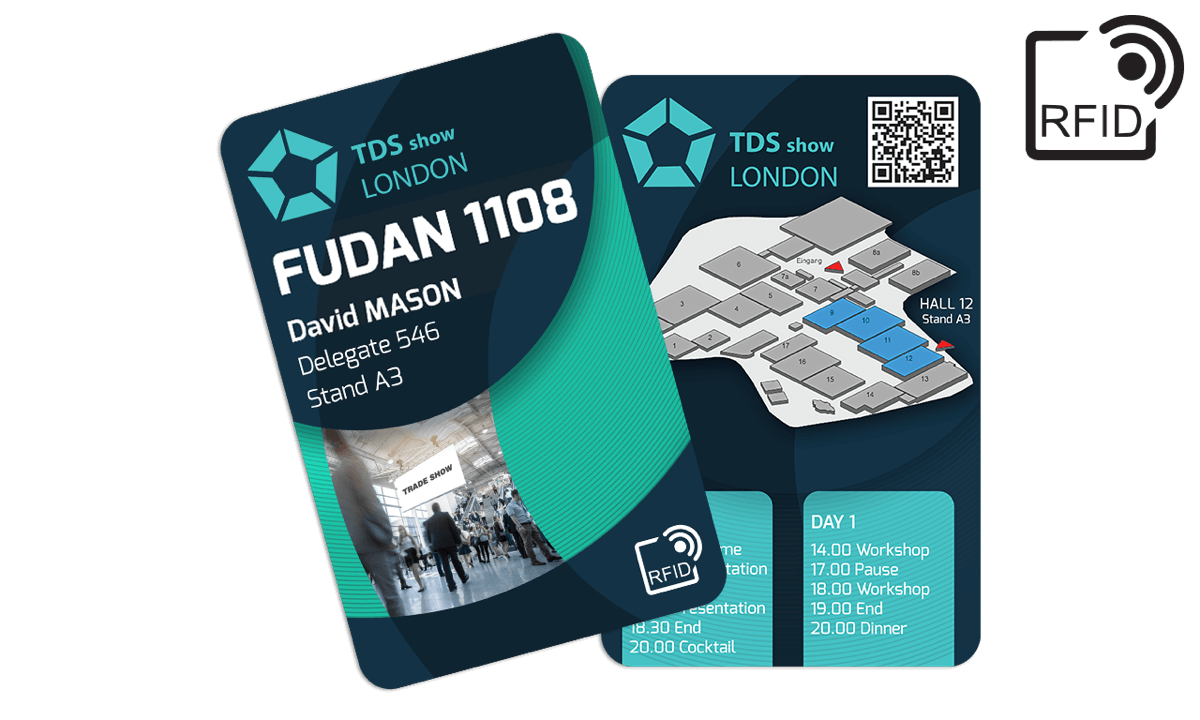 Tarjetas RFID 133 x 85 mm personalizadas - Fudan 1108