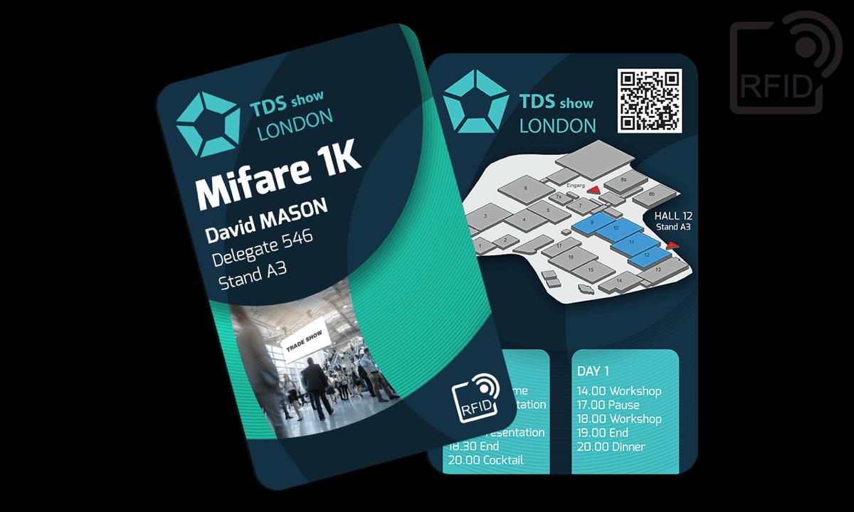 Tarjetas RFID 133 x 85 mm personalizadas - Mifare 1K