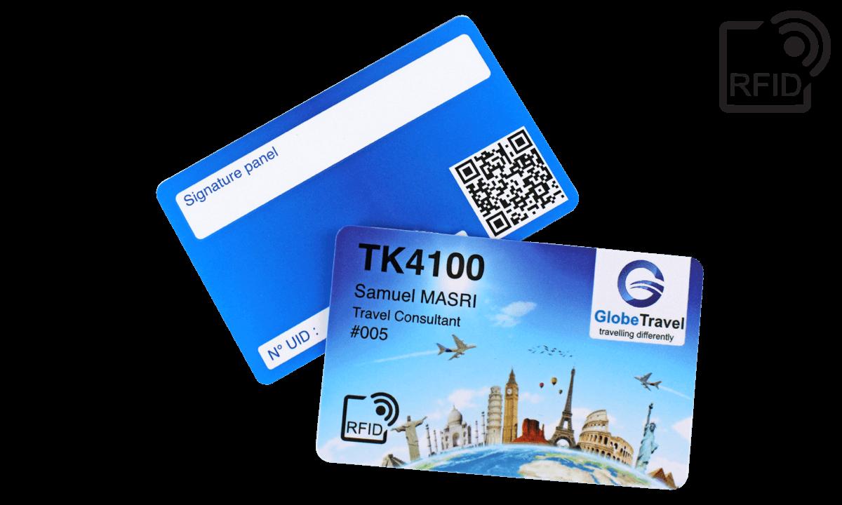 Tarjetas RFID 86 x 54 mm personalizadas - TK 4100