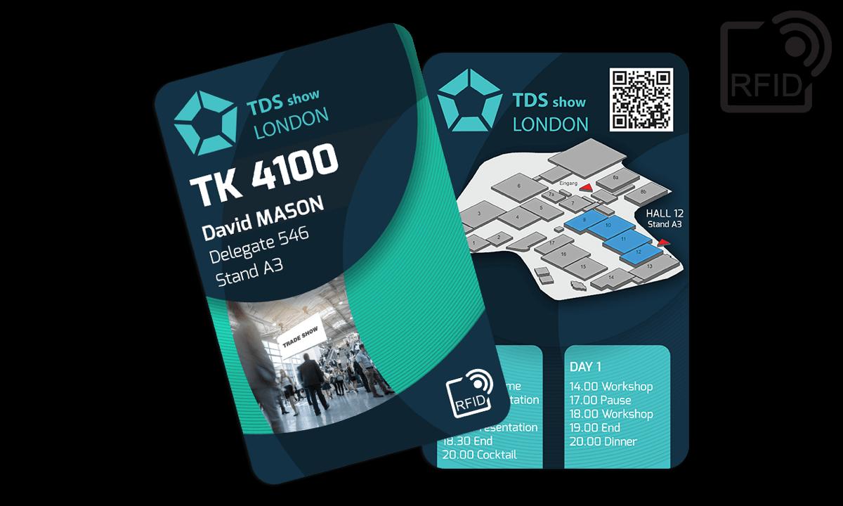 Tarjetas RFID 133 x 85 mm personalizadas - TK 4100