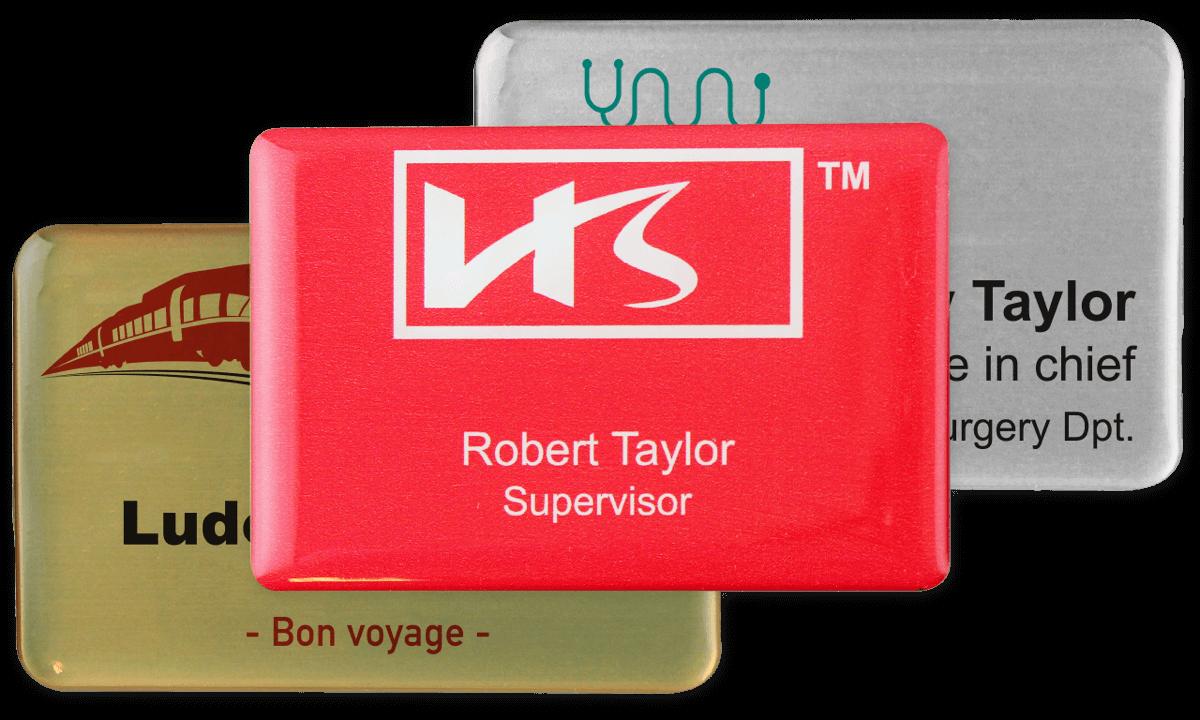 Identificadores Impress Premium, 75 x 50 mm