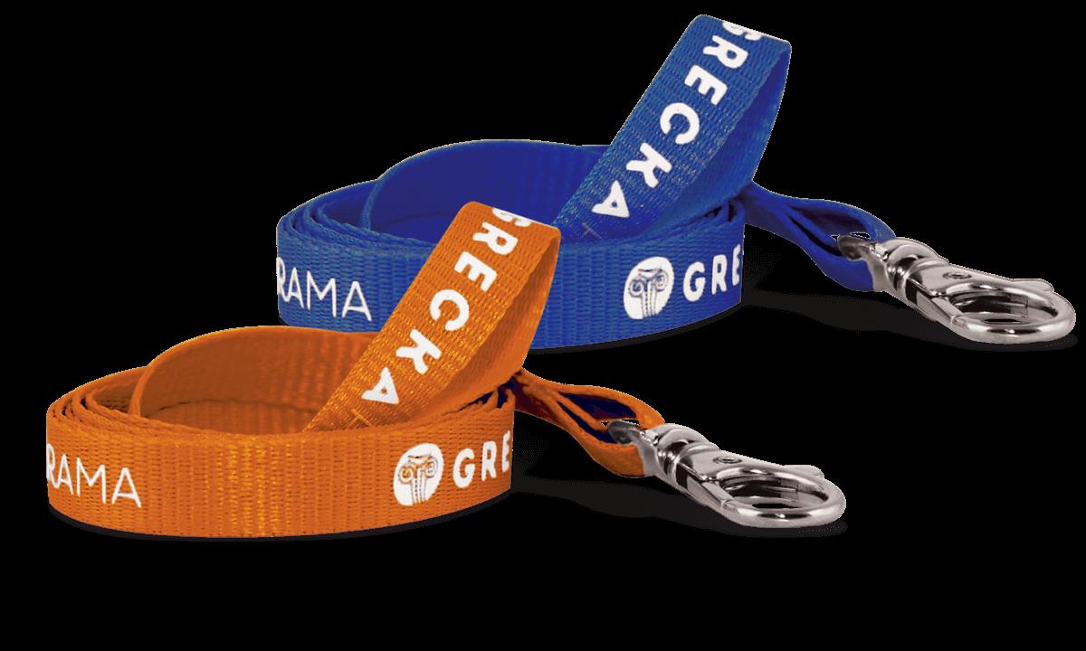 Lanyards personalizados de poliéster estriado 10 mm - 1 color de impresión