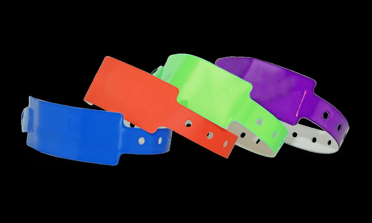 Pulseras de vinilo 25 mm, sin impresión