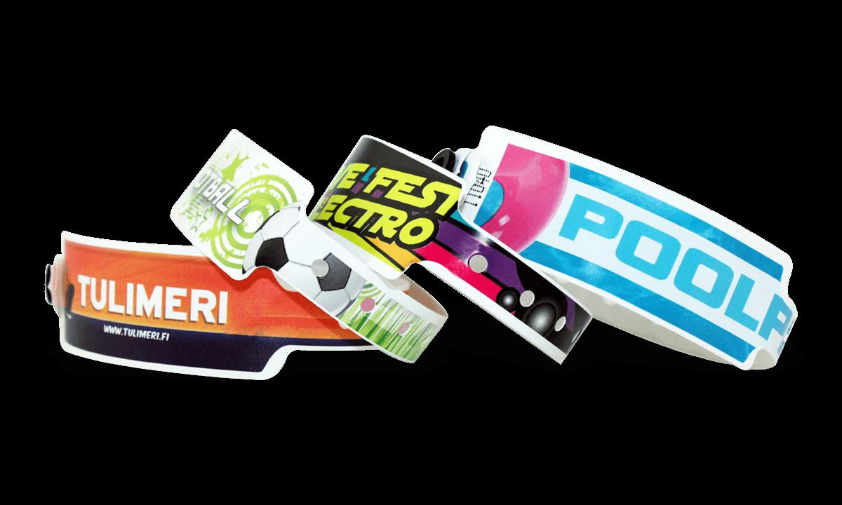 Pulseras de plástico 25 mm, impresión digital de calidad fotográfica