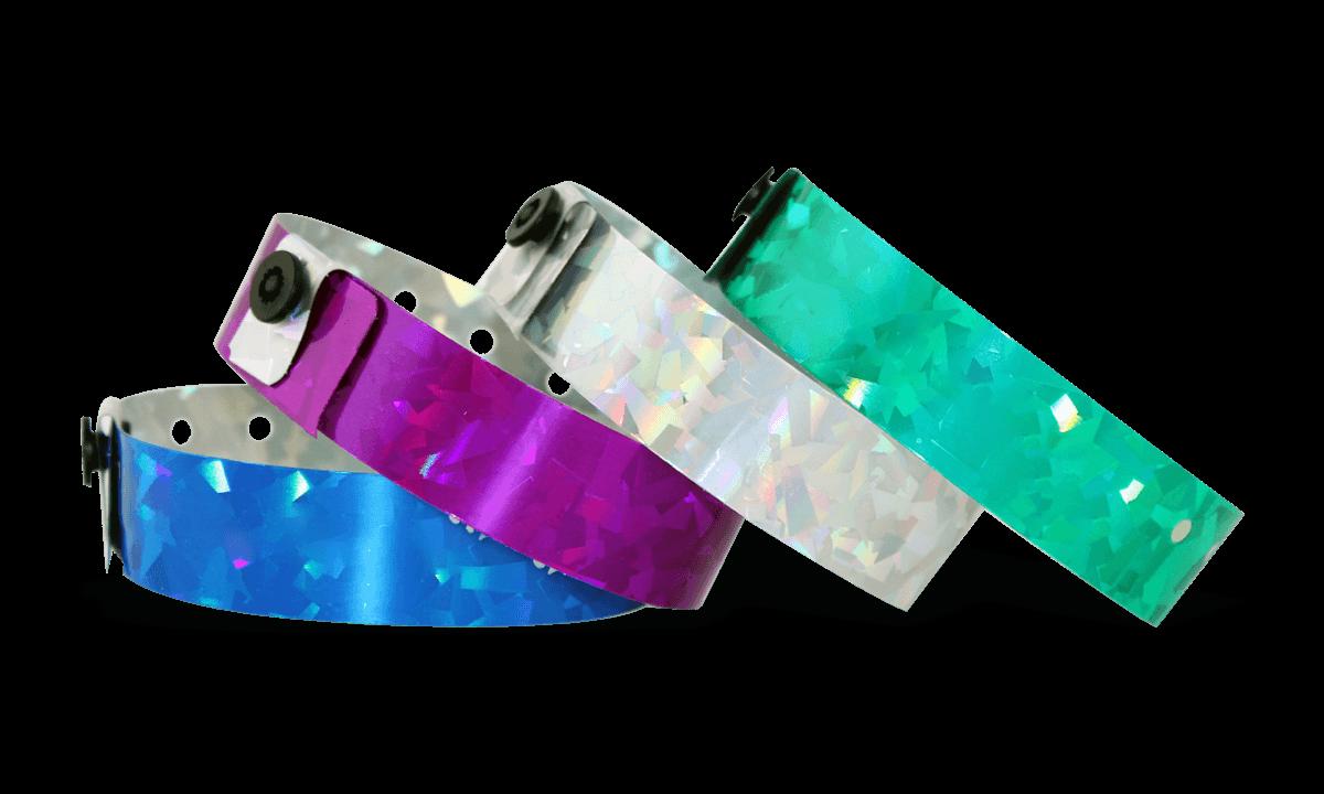 "Pulseras holográficas 19 mm ""Confetti"""