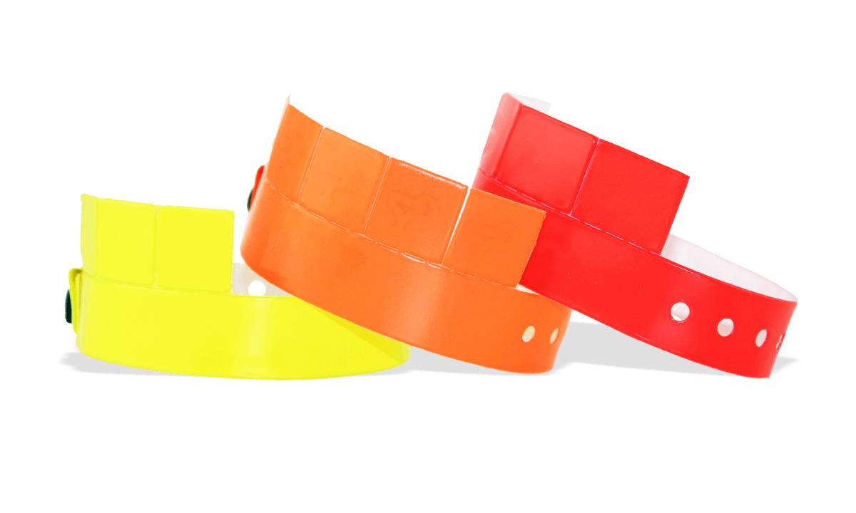 Pulseras de vinilo 19 mm con 5 lengüetas