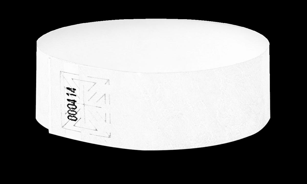 Pulseras Tyvek, 25 mm, White