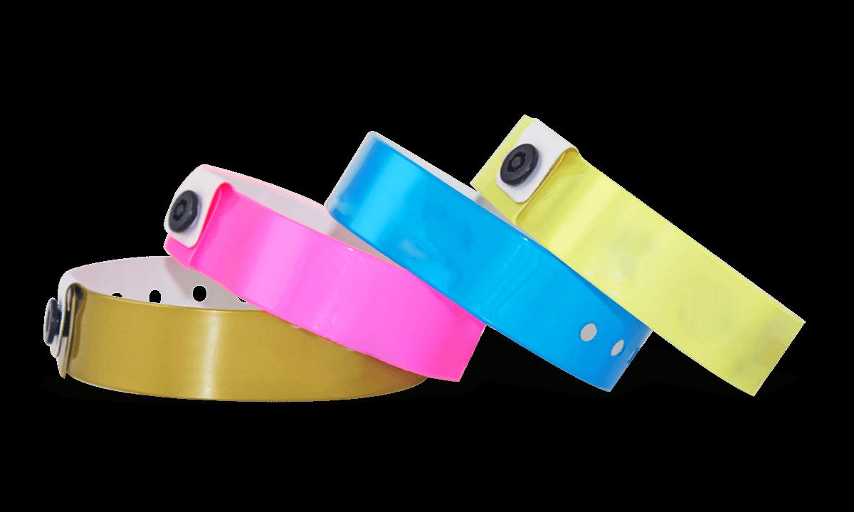 Pulseras de vinilo, 19 mm, sin impresión