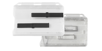 Porta acreditación rígido múltiple horizontal con pestaña deslizante - Premium