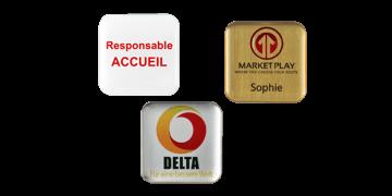 Identificadores Impress Premium, 32 x 32 mm