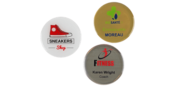 Identificadores Impress Premium redondos, 50 mm