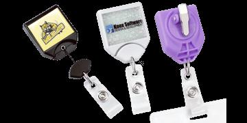 Broche yoyó B-Reel anti-torsión personalizable con pinza giratoria dentada