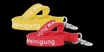 Lanyards personalizados de poliéster tubular 15 mm - 1 color de impresión