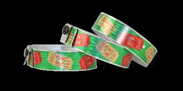 """Pulseras holográficas 19 mm """"Rain"""" con una impresión digital de calidad fotográfica"""