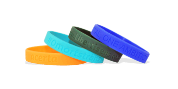 Pulseras de silicona con bajo relieve, tamaño pequeño / niños