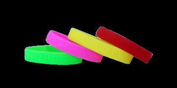 Pulseras de silicona con alto relieve, tamaño pequeño / niños