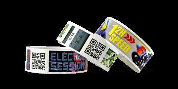 Pulseras con códigos de barras e impresión digital TPS 25 mm (acabado mate)