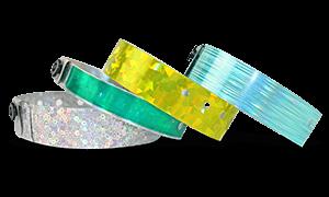 f3c5e9e2c84d Pulseras de vinilo y plástico impresas sencillas o personalizadas ...